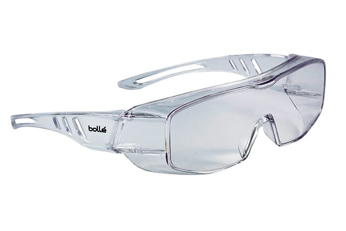 Bollé Overlight safety spectacles providing eye protection from all sides