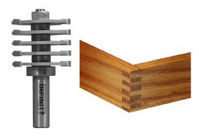 Cut strong and beautiful box joints quickly and easily with this router bit