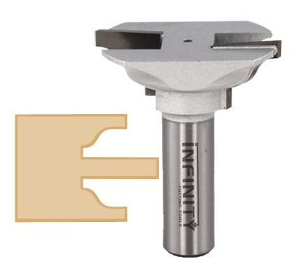 Extended tenon router bit 91-522TC with an ogee profile