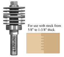 Produce perfect finger joints with this professional finger joint router bit