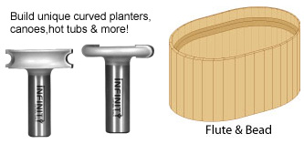 Flute and bead router bits