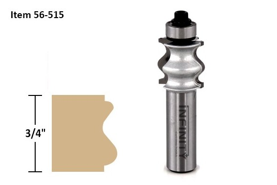 Frame profile router bit 56-515 for custom wooden picture and mirror frames