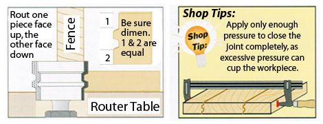 How to set up and use the reverse glue joint router bit