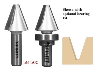 These point cutting router bits produce sharp and precise sign lettering