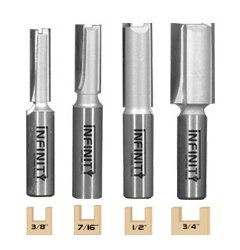 A set of four very useful straight router bits for those jobs that require extra length