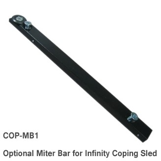 The optional mitre bar guides the sled in your router table, shaper table or table saw