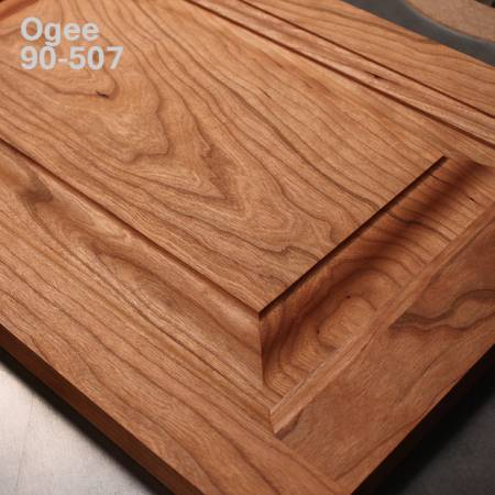 Horizontal raised panel bit with back cutter for wooden doors - Ogee profile