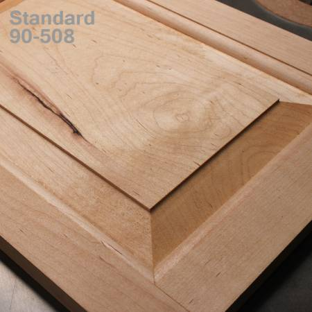 Horizontal raised panel bit with back cutter for wooden doors - Standard profile