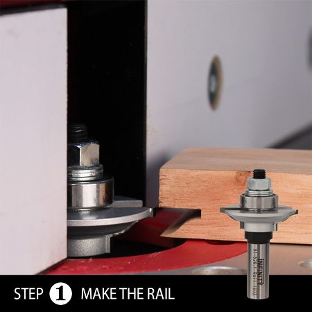 Ultimate glass door router bit set - step 1 - the rail cut