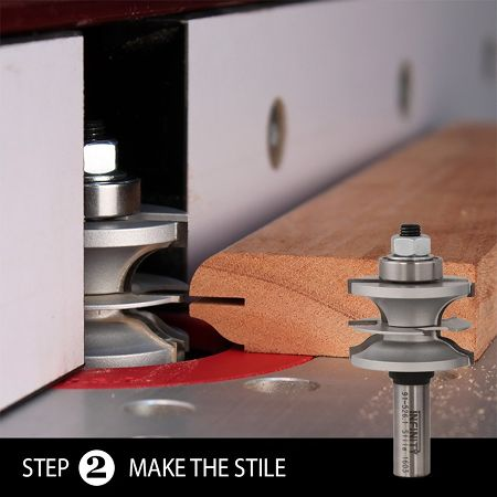 Ultimate glass door router bit set - step 2 - the stile cut